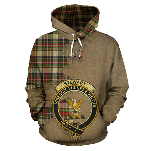 Stewart Dress Modern Clan Crest Tartan Hoodie Royal