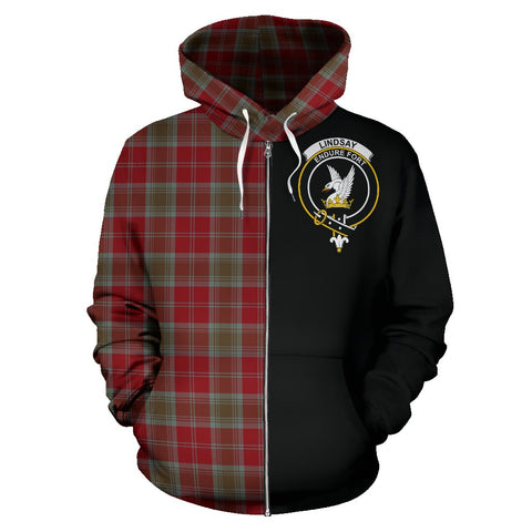 Lindsay Weathered Tartan Hoodie Half Of Me | 1sttheworld.com