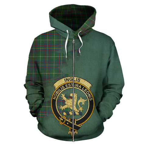 Inglis Ancient  Royal All Over Hoodie (Zip)