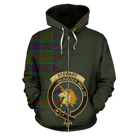 Stewart of Appin Hunting Modern  Royal All Over Hoodie (Zip)