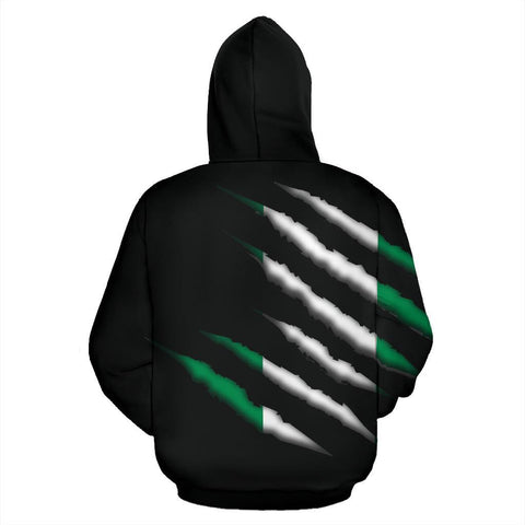 Image of Nigeria All Over Zip-Up Hoodie - Inside Me - BN09