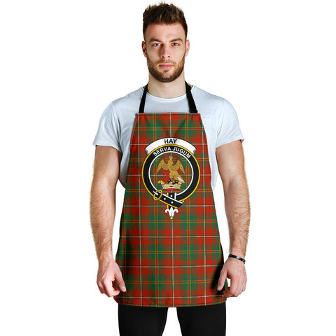 Image of Hay Ancient Tartan Clan Crest Apron HJ4