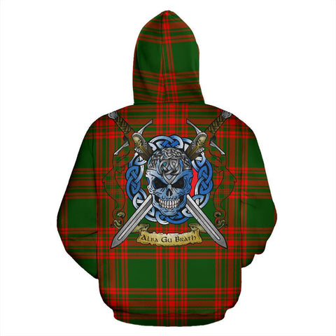 Image of Menzies Green Modern Tartan Hoodie Celtic Scottish Warrior A79 | Over 500 Tartans | Clothing | Apaprel