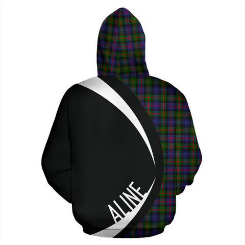(Aline) Murray of Atholl Modern Tartan Circle Hoodie HJ4