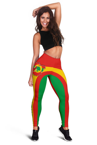 Image of Oromo Flag Maps Leggings A31