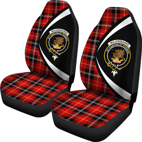 Marjoribanks Tartan Clan Crest Car Seat Cover - Circle Style Hj4