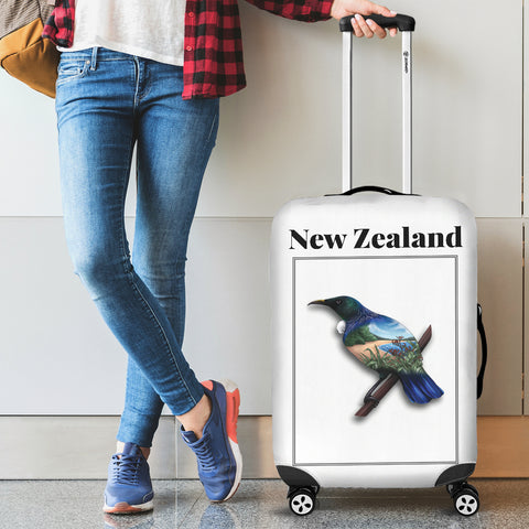 New Zealand Tui Luggage Cover - new zealand birds, new zealand kiwi, luggage cover, suitcase covers, accessories, online shopping