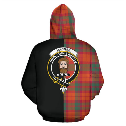 Image of MacNab Ancient Tartan Hoodie Half Of Me TH8