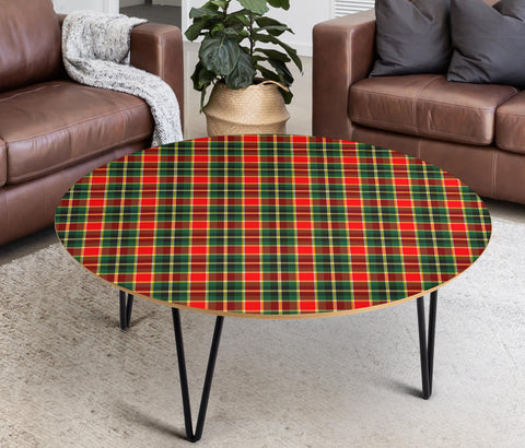 MacLachlan Hunting Modern Tartan Circular Coffee Table - BN