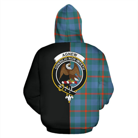 Agnew Ancient Tartan Hoodie Half Of Me TH8