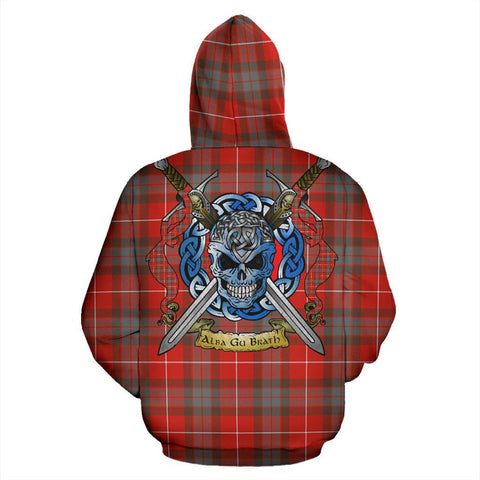 Fraser Weathered Tartan Hoodie Celtic Scottish Warrior A79 | Over 500 Tartans | Clothing | Apaprel