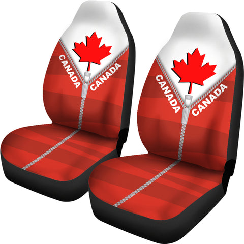 Canada In Me Red Car Seat Covers Zipper Style K52