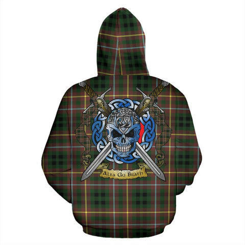 Image of Buchanan Hunting Tartan Hoodie Celtic Scottish Warrior A79 | Over 500 Tartans | Clothing | Apaprel