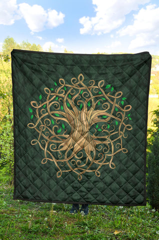 Image of Celtic Tree Premium Quilt A6