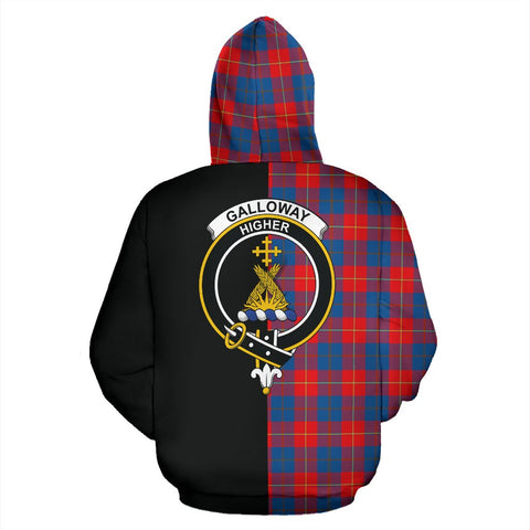 Galloway Red Tartan Hoodie Half Of Me TH8