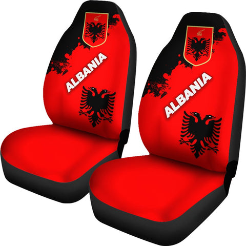 Image of Albania Car Seat Covers Red Braved Version K12