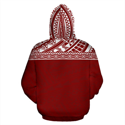 Poly All Over Print Hoodie - Polynesian Red Custom Version - BN09