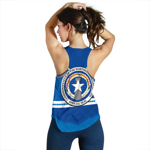 Northern Mariana Islands Women's Racerback Tank - Warriors Style TH5