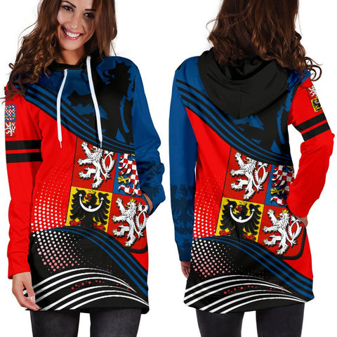Image of Czech Republic Hoodie Dress Fall In The Wave 2