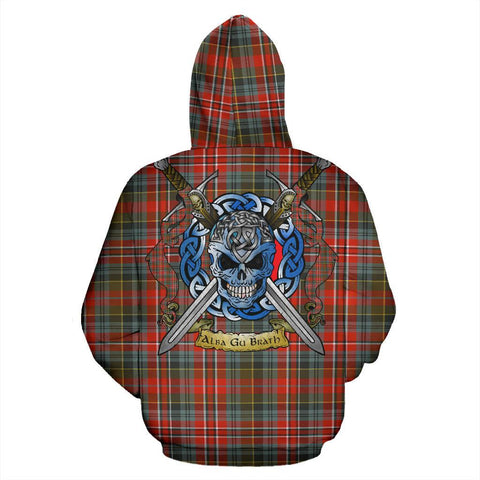 MacPherson Weathered Tartan Hoodie Celtic Scottish Warrior A79 | Over 500 Tartans | Clothing | Apaprel