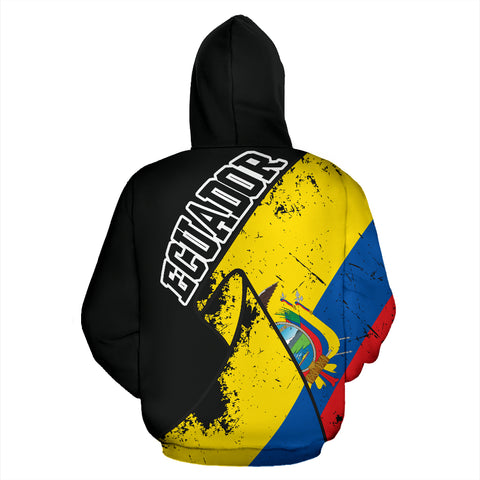 Ecuador Special Grunge Flag Pullover Hoodie A02