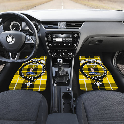 Barclay Dress Modern  Tartan Clan Badge Car Floor Mat 4 Pieces K7