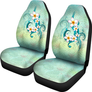 Hawaii Plumeria Flower Car Seat Covers J2