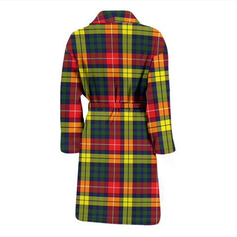 Buchanan Modern Bathrobe - Men Tartan Plaid Bathrobe Universal Fit