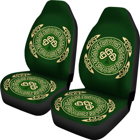 Ireland Car Seat Covers Shamrock and Celtic Corner TH6