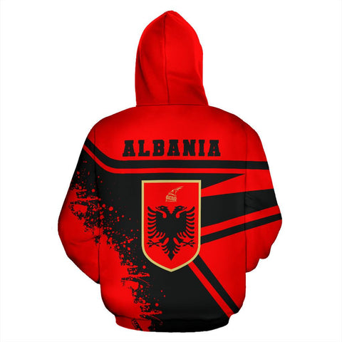 Image of Albania Hoodie Painting Style Th52