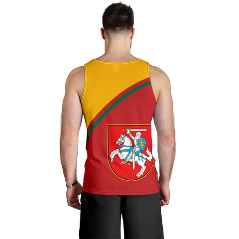 Image of Lithuania Men's Tank Top - Curve Version back