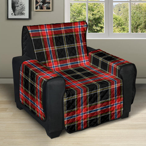 Image of Norwegian Night Tartan Recliner Sofa Protector | Tartan Home Set