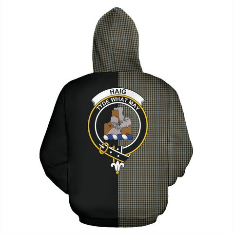 Image of Haig Check Tartan Hoodie Half Of Me TH8