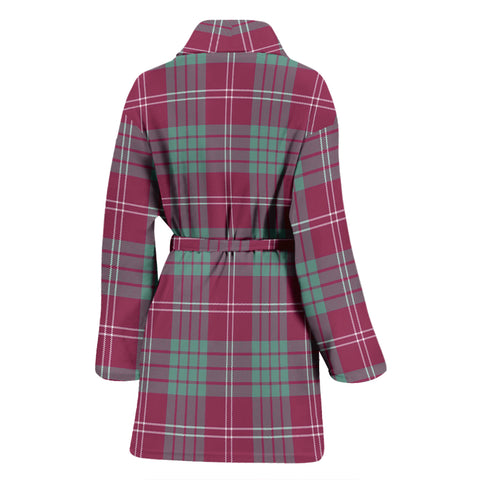 Crawford Ancient Bathrobe - Women Tartan Plaid Bathrobe Universal Fit
