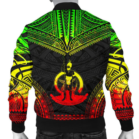 Vanuatu Polynesian Chief Men's Bomber Jacket - Reggae Version