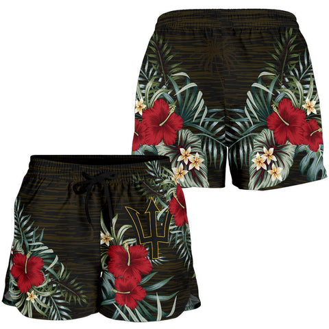 Image of Barbados 2 Hibiscus Women's Shorts A7
