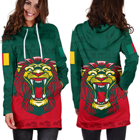 Cameroon Hoodie Dress Lion