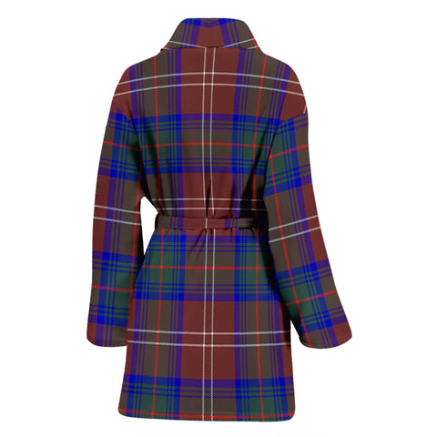 Chisholm Hunting Modern Bathrobe - Women Tartan Plaid Bathrobe Universal Fit