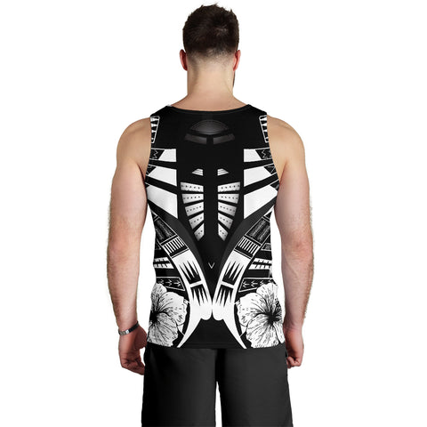 Image of Polynesian Tattoo Men Tank Top Hibiscus 2