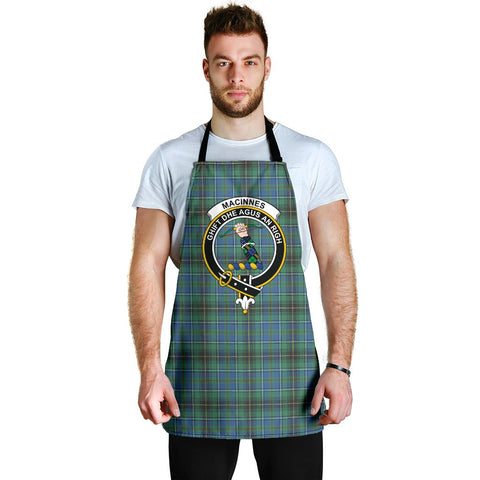 Image of MacInnes Ancient Tartan Clan Crest Apron HJ4