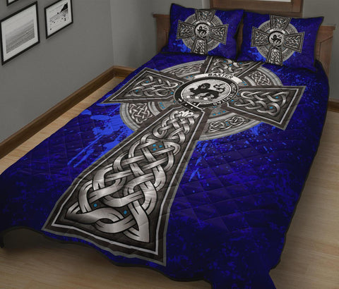 Image of Baxter Crest Scottish Celtic Cross Scotland Quilt Bed Set | Over 300 Clans | Home Set