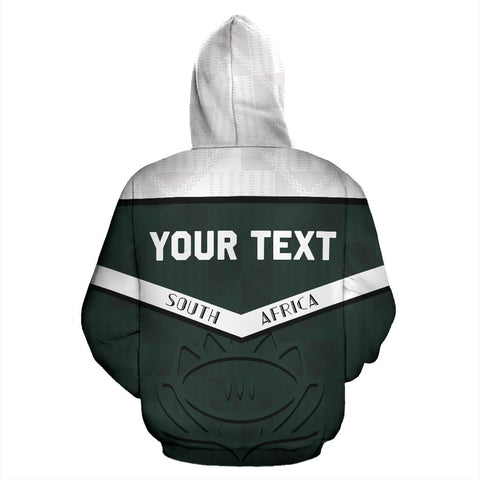 South Africa Personalized Hoodie Springbok Champion 2019 back