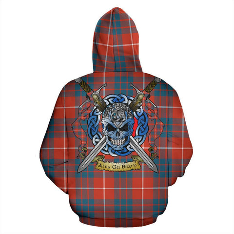 Image of Hamilton Ancient Tartan Hoodie Celtic Scottish Warrior A79 | Over 500 Tartans | Clothing | Apaprel