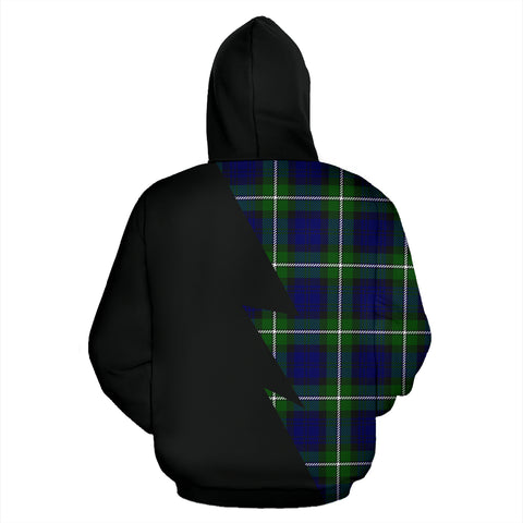 Tartan All Over Hoodie - Forbes Clans Badge - BN