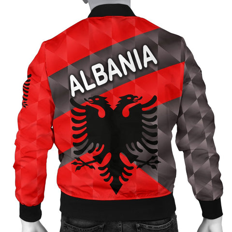 Image of Albania Men Bomber Jacket Sporty Style K8