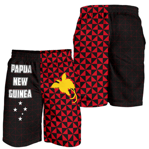 Image of Papua New Guinea Polynesian All Over Print Men's Shorts Coat Of Arms