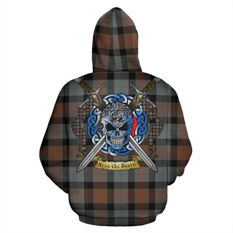 Gunn Weathered Tartan Hoodie Celtic Scottish Warrior A79 | Over 500 Tartans | Clothing | Apaprel