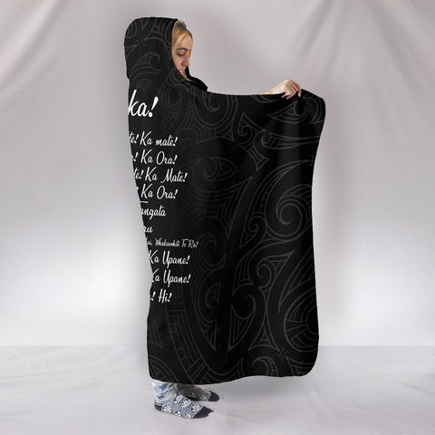 New Zealand Hooded Blanket Ka Mate Haka Lyrics A7