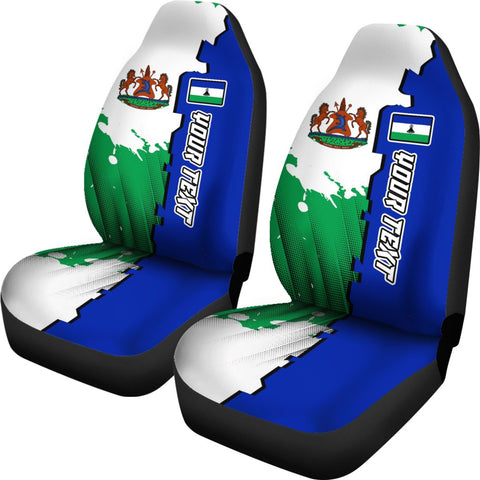 Lesotho Personalised Car Seat Covers - Independence Day