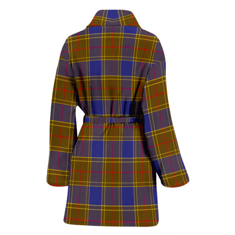 Balfour Modern Bathrobe - Women Tartan Plaid Bathrobe Universal Fit